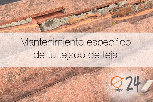 Mantenimiento de tejados de teja en A Coruña